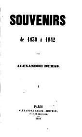 Souvenirs de 1830 à 1842