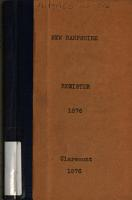 New Hampshire Register  State Year book and Legislative Manual PDF