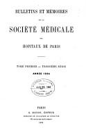 Bulletins Et M  moires de la Soci  t   M  dicale Des H  pitaux de Paris PDF