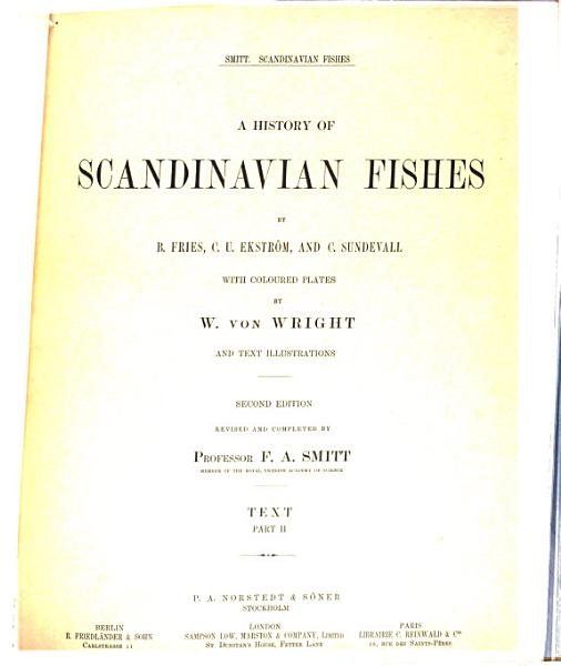 Download A History of Scandinavian Fishes Book