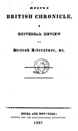 British chronicle  a universal review of British literature PDF