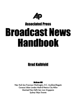 Associated Press Broadcast News Handbook Book