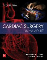 Cardiac Surgery in the Adult 5 e PDF