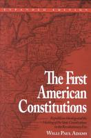 The First American Constitutions PDF