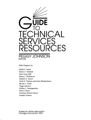 Guide to Technical Services Resources PDF
