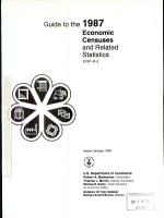 Guide to the 1987 Economic Censuses and Related Statistics PDF