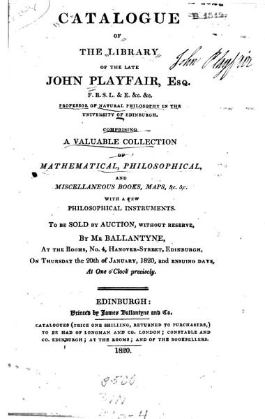 A Catalogue Of The Library Of The Late John