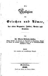 Die religion der Griechen und Römer, der alten Aegypter, Judier, Perser und Semiten