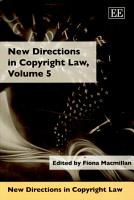 New Directions in Copyright Law PDF