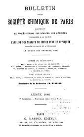 Bulletin de la Société chimique de Paris: Volume1;Volume45