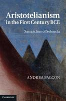 Aristotelianism in the First Century BCE PDF