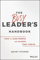 The Busy Leader s Handbook PDF