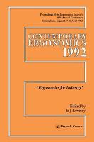 Contemporary Ergonomics PDF