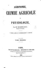 Agronomie, chimie agricole et physiologie: Volumes1à2