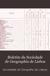 Boletim da Sociedade de geographia de Lisboa: Volume 7