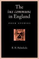 The ius commune in England PDF