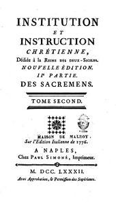Institution et instruction chrétienne: Volume2