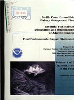 Essential Fish Habitat Designation and Minimization of Adverse Impacts, Pacific Coast Groundfish Fishery Management Plan