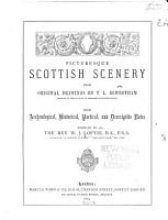 Picturesque Scottish Scenery from Original Drawings PDF