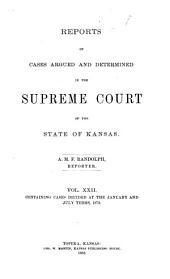 Kansas Reports: Volume 22