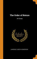 The Order of Nature  An Essay PDF