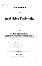 Lehrbuch der gerichtlichen Psychologie