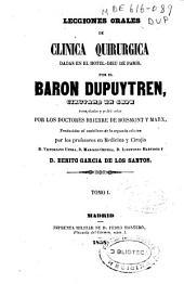 Lecciones orales de clínica quirúrgica dadas en el Hotel-Dieu de Paris: Volúmenes 1-2