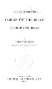 The Superhuman Origin of the Bible Book