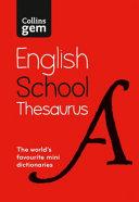 Collins Gem School Thesaurus