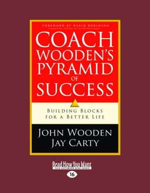 Coach Wooden s Pyramid of Success  Large Print 16pt
