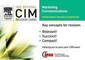 CIM Revision Cards 05/06: Marketing Communications