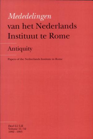 Mededelingen Van Het Nederlands Instituut Te Rome