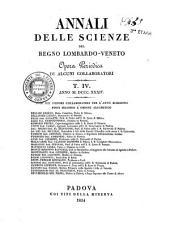 Annali delle scienze del regno Lombardo-Veneto: opera periodica di alcuni collaboratori, Volume 4