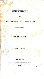 zeitschrift fur deutsches alterthum
