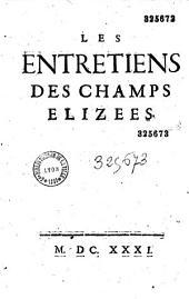 Les Entretiens des Champs Elizees (par Hay Du Chastelet)