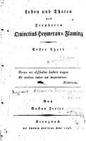 Leben und Thaten des Freyherrn Quinctius Heymeran v  Flaming PDF