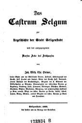 Das Castrum Selgum zur Urgeschichte der Stadt Seligenstadt und des ausgegangenen Dorfes Zelle bei Zellhausen