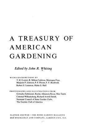 A Treasury of American Gardening PDF