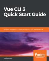 Vue CLI 3 Quick Start Guide PDF