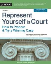Represent Yourself in Court: How to Prepare & Try a Winning Case, Edition 9