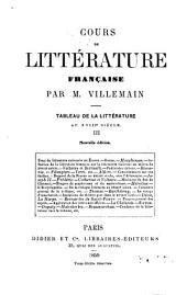 Cours de littérature française, 3: tableau de la littérature au XVIIIe siècle