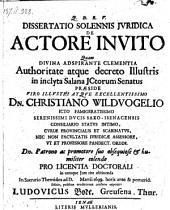 De actore invito; resp. Ludovicus Bode. -Jenae, Müller 1699