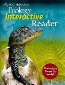 Biology  Grades 9 12 Interactive Reader With Vocabulary Word Games PDF