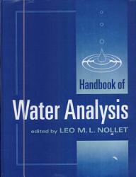 Handbook Of Water Analysis Book PDF