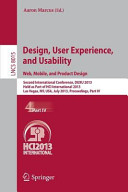 Design, User Experience, and Usability: Web, Mobile, and Product Design