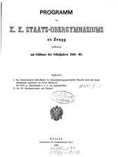 Programm des k.k. Militärgrenz-Obergymnasiums zu Zengg veröffentlicht am Schlusse des Schuljahres ...