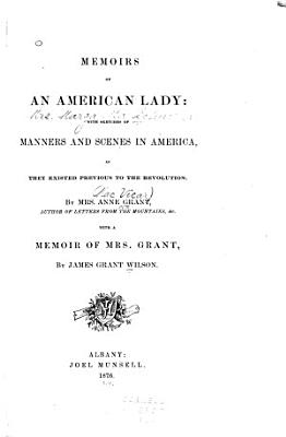 Memoirs of an American Lady