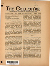 The Collector: A Monthly Magazine for Autograph and Historical Collectors, Volume 13, Issue 10