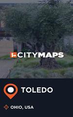City Maps Toledo Ohio, USA