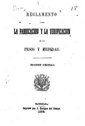 Reglamento sobre la fabricación y la verificación de los pesos y medidas
